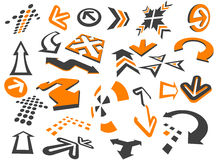 Arrows. In different styles and shapes on the white Royalty Free Stock Photo