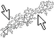 Arrows. Illustration of computer arrows icons Stock Photography