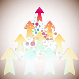 Arrows. Colorful arrows with dots on the screen Royalty Free Stock Photo