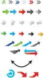 Arrows. A set of designed arrows Stock Photos