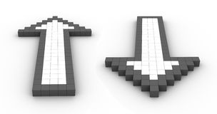 Arrows. 3d render of abstract arrows Stock Photos