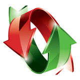 Arrows. Illustration of green and red arrows Stock Photos