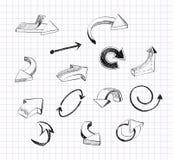 Arrows. Set of doodle  arrows fnd design elements Royalty Free Stock Images