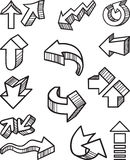 Arrows. Vector drawing of a different arrows Royalty Free Stock Images