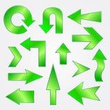Arrows. A green vector arrows for web Stock Photography
