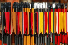 Arrows. A lot of coloured arrows, ready to be shot royalty free stock photography