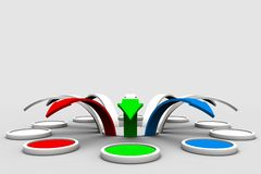 Arrows. Colourful set of arrows on white background Stock Photos