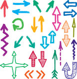 Arrows. Vector drawing of a different hand drawn arrows Royalty Free Illustration