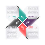 Arrows. Four arrows design template vector illustration Royalty Free Stock Image