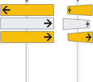 Arrows. Realistic vector illustration of the traffic arrow signs Royalty Free Stock Image