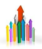Arrows pointing upwards Stock Image