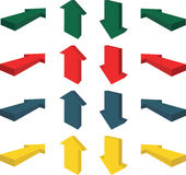 Arrows 3D. Set of 3D directional arrows Royalty Free Stock Image