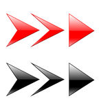 Arrows 3d. 3d arrows on the isolated white background Stock Photo
