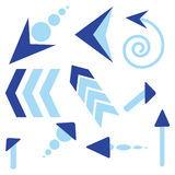 Arrows. On a white background - additional ai and eps format available on request Stock Images