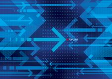 Arrows. Blue arrows abstract background design Royalty Free Stock Images