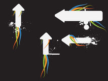 Arrows. Splash,swirl easy to resize or change color Stock Photography