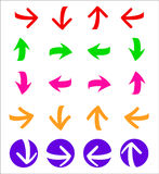 Arrows. Set of arrows for web design, for signs or illustrations royalty free illustration