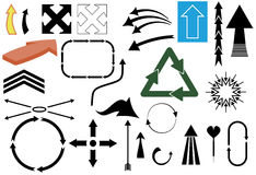 Arrows. Vector illustration of various arrow shapes isolated on separate layers Stock Image