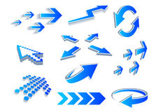 Arrows. A vector set of useful arrows Stock Image