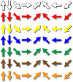 Arrows. Colored, all directions, easy to scale and to change color Stock Images