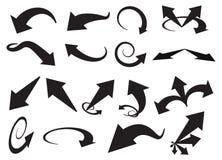 Arrows. Vector illustration of black arrows stock illustration