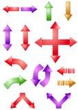 Arrows. Set of vector arrows for desygn Stock Images
