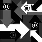 Arrows. Black and white abstract background with arrows Royalty Free Stock Photos