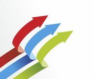 Arrows. Abstract arrangement of arrows as decorative element Stock Illustration