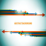 Arrows abstract background. Colorful Arrows abstract blue background vector illustration