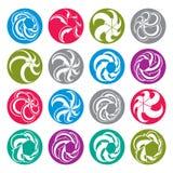 Arrows abstract conceptual symbol template collection, vector 3d Royalty Free Stock Photo