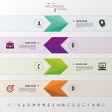 Arrows. Abstract 3D digital illustration Infographic. Vector illustration Stock Photos