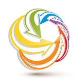 Arrows abstract loop symbol, vector concept pictogram Stock Photos