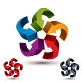 Arrows abstract loop symbol, vector conceptual pictogram templat Stock Image