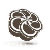 Arrows abstract loop symbol, vector conceptual pictogram template, vector 3d single color icon. vector illustration