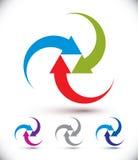 Arrows abstract loop symbol, vector conceptual pictogram templat Royalty Free Stock Photo