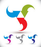 Arrows abstract loop symbol, vector conceptual pictogram templat Stock Photo