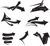 Arrows abstract vector Stock Photos