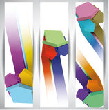 Arrows. Abstract Web Banners Royalty Free Stock Images