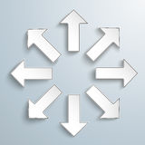 Arrows All Directions Royalty Free Stock Images