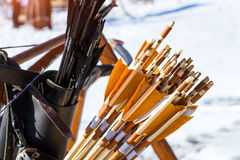 Arrows for archery targets Stock Photography