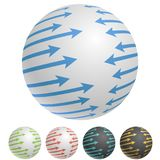 Arrows around the sphere icon. Arrows around the sphere concept icon. Vector illustration Royalty Free Stock Photos