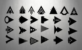 Arrows - Arrow Heads - Completely Editable Royalty Free Stock Photos