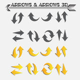 ARROWS & ARROWS 3D Vector Stock Images
