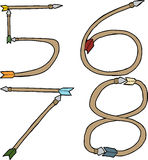 Arrows as Five, Six, Seven and Eight Royalty Free Stock Images