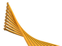9 arrows ascending to the upper left. 3D illustration Royalty Free Stock Image