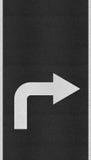 Arrows on Asphalt road texture Royalty Free Stock Photography
