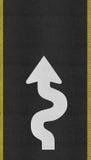 Arrows on Asphalt road texture Royalty Free Stock Photos