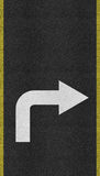 Arrows on Asphalt road texture Royalty Free Stock Photo