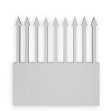 Arrows background. Arrows upward on white background - 3d illustration Royalty Free Stock Photos