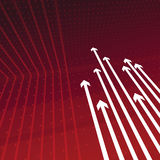Arrows Background. An illustrated crimson colored background with white arrows Royalty Free Stock Photos
